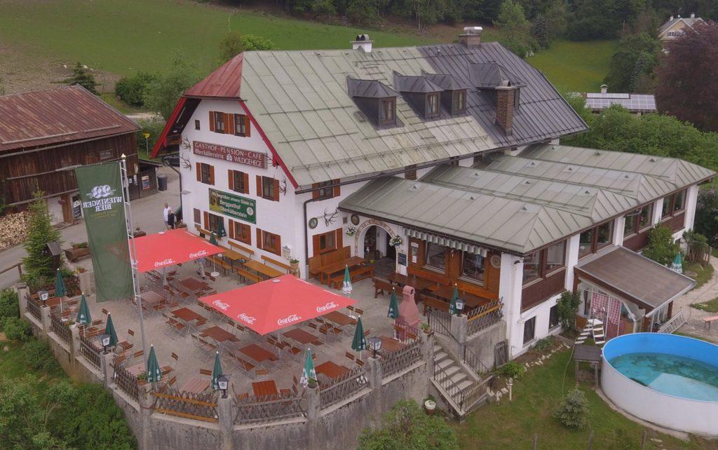 Berggasthof Oberkälberstein - Luftansicht